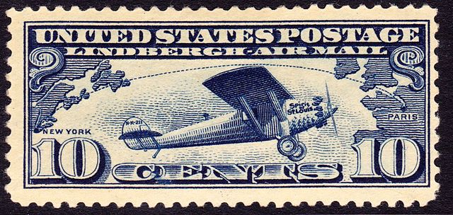 Spirit of Saint Louis US Postal Stamp