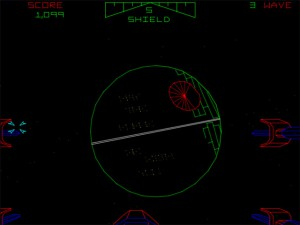 Star Wars Arcade Game - A vintage view of the Death Star
